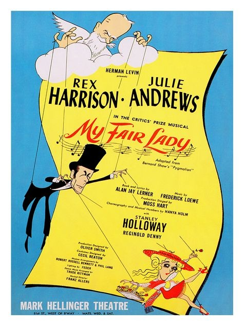Image result for musical my fair lady in 1956