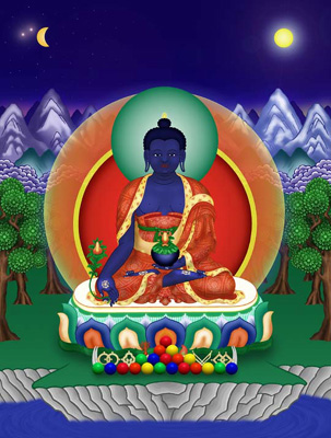 Medicine Buddha buddha of                                         healing and health